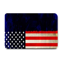 Grunge American Flag Background Small Doormat