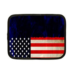 Grunge American Flag Background Netbook Case (Small)