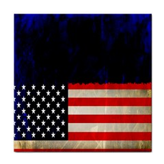 Grunge American Flag Background Face Towel
