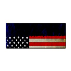 Grunge American Flag Background Cosmetic Storage Cases