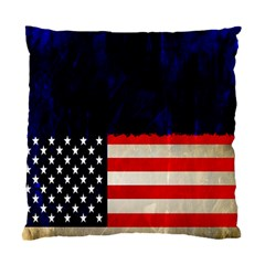 Grunge American Flag Background Standard Cushion Case (One Side)