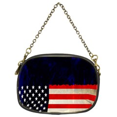 Grunge American Flag Background Chain Purses (Two Sides)