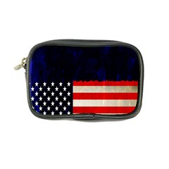 Grunge American Flag Background Coin Purse