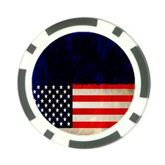 Grunge American Flag Background Poker Chip Card Guard (10 pack)
