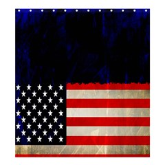 Grunge American Flag Background Shower Curtain 66  X 72  (large)
