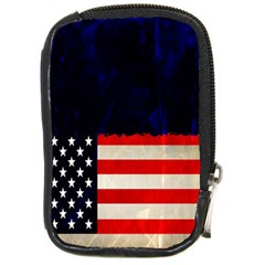 Grunge American Flag Background Compact Camera Cases