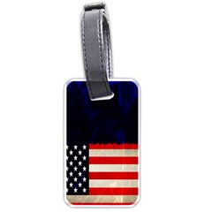 Grunge American Flag Background Luggage Tags (Two Sides)