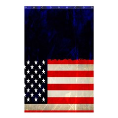 Grunge American Flag Background Shower Curtain 48  X 72  (small)