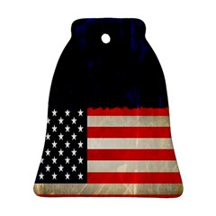Grunge American Flag Background Bell Ornament (Two Sides)