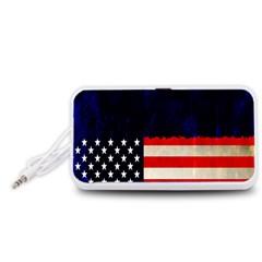 Grunge American Flag Background Portable Speaker (White)