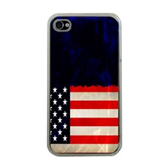 Grunge American Flag Background Apple Iphone 4 Case (clear)