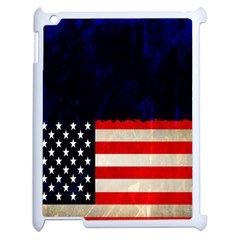 Grunge American Flag Background Apple iPad 2 Case (White)