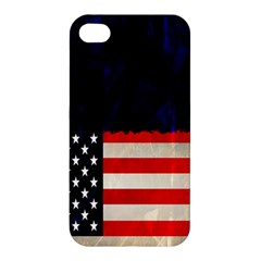 Grunge American Flag Background Apple iPhone 4/4S Premium Hardshell Case
