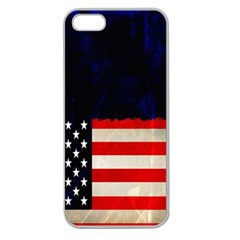Grunge American Flag Background Apple Seamless iPhone 5 Case (Clear)