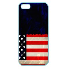 Grunge American Flag Background Apple Seamless iPhone 5 Case (Color)