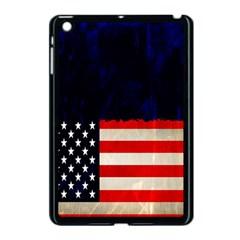 Grunge American Flag Background Apple iPad Mini Case (Black)