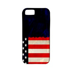 Grunge American Flag Background Apple iPhone 5 Classic Hardshell Case (PC+Silicone)