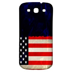 Grunge American Flag Background Samsung Galaxy S3 S Iii Classic Hardshell Back Case