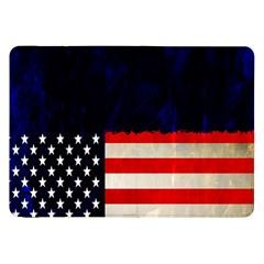Grunge American Flag Background Samsung Galaxy Tab 8.9  P7300 Flip Case
