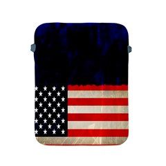 Grunge American Flag Background Apple Ipad 2/3/4 Protective Soft Cases