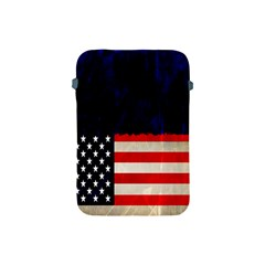 Grunge American Flag Background Apple Ipad Mini Protective Soft Cases