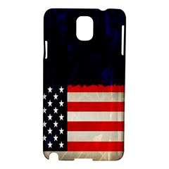 Grunge American Flag Background Samsung Galaxy Note 3 N9005 Hardshell Case
