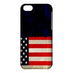 Grunge American Flag Background Apple iPhone 5C Hardshell Case