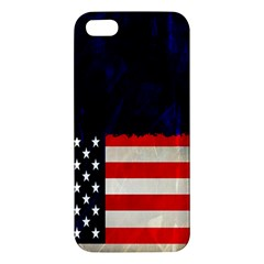 Grunge American Flag Background iPhone 5S/ SE Premium Hardshell Case
