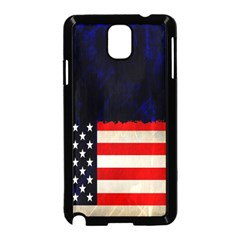 Grunge American Flag Background Samsung Galaxy Note 3 Neo Hardshell Case (black)