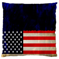 Grunge American Flag Background Standard Flano Cushion Case (One Side)