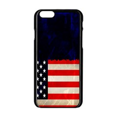 Grunge American Flag Background Apple Iphone 6/6s Black Enamel Case