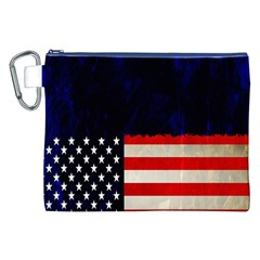 Grunge American Flag Background Canvas Cosmetic Bag (XXL)