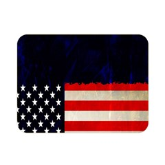 Grunge American Flag Background Double Sided Flano Blanket (mini)