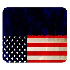 Grunge American Flag Background Double Sided Flano Blanket (Small)