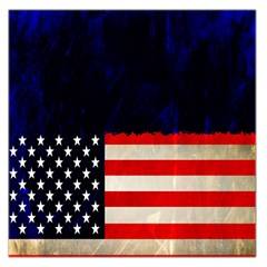 Grunge American Flag Background Large Satin Scarf (Square)