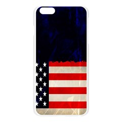 Grunge American Flag Background Apple Seamless iPhone 6 Plus/6S Plus Case (Transparent)