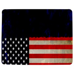 Grunge American Flag Background Jigsaw Puzzle Photo Stand (Rectangular)