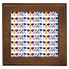 A Creative Colorful Background With Hearts Framed Tiles