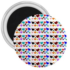 A Creative Colorful Background With Hearts 3  Magnets