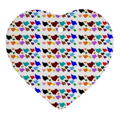 A Creative Colorful Background With Hearts Ornament (Heart)