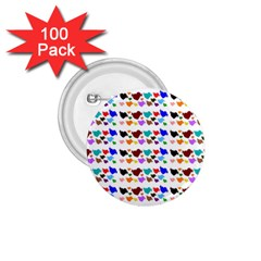 A Creative Colorful Background With Hearts 1.75  Buttons (100 pack)