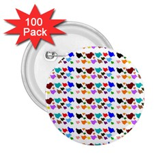 A Creative Colorful Background With Hearts 2 25  Buttons (100 Pack)