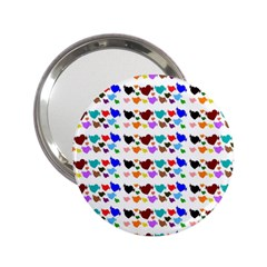 A Creative Colorful Background With Hearts 2 25  Handbag Mirrors