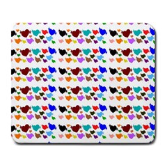 A Creative Colorful Background With Hearts Large Mousepads
