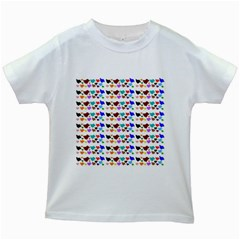 A Creative Colorful Background With Hearts Kids White T Shirts