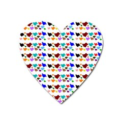A Creative Colorful Background With Hearts Heart Magnet