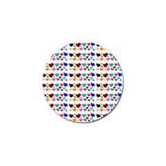 A Creative Colorful Background With Hearts Golf Ball Marker (4 Pack)