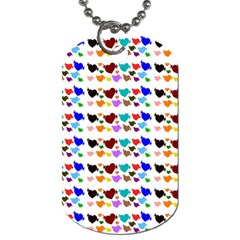 A Creative Colorful Background With Hearts Dog Tag (Two Sides)