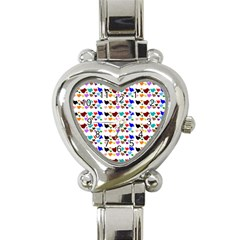A Creative Colorful Background With Hearts Heart Italian Charm Watch