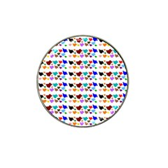 A Creative Colorful Background With Hearts Hat Clip Ball Marker (4 Pack)